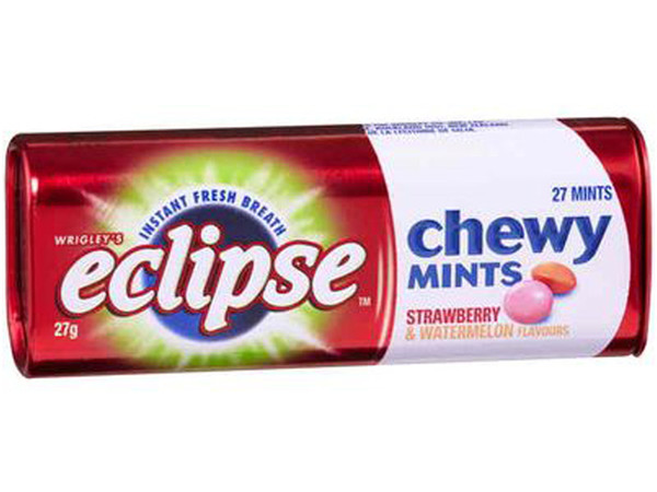 Eclipse Chewy Mint - Strawberry Watermelon, by Wrigley,  and more Confectionery at The Professors Online Lolly Shop. (Image Number :7059)