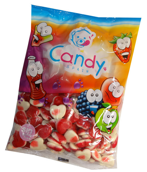 Gummi Jelly Filled Hearts and more Confectionery at The Professors Online Lolly Shop. (Image Number :7091)