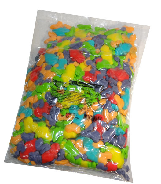 Gummi Rainforest Frogs, by Albanese Confectionery/Other,  and more Confectionery at The Professors Online Lolly Shop. (Image Number :7147)