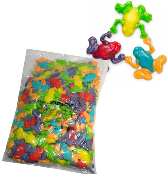Gummi Rainforest Frogs, by Albanese Confectionery/Other,  and more Confectionery at The Professors Online Lolly Shop. (Image Number :7303)