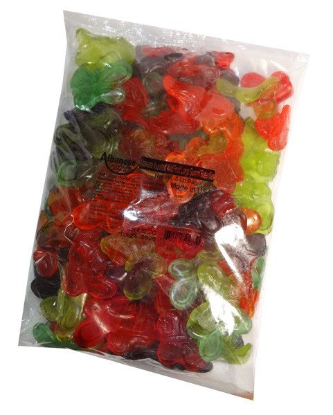 Gummi Large Butterflies, by Albanese Confectionery/Other,  and more Confectionery at The Professors Online Lolly Shop. (Image Number :7145)
