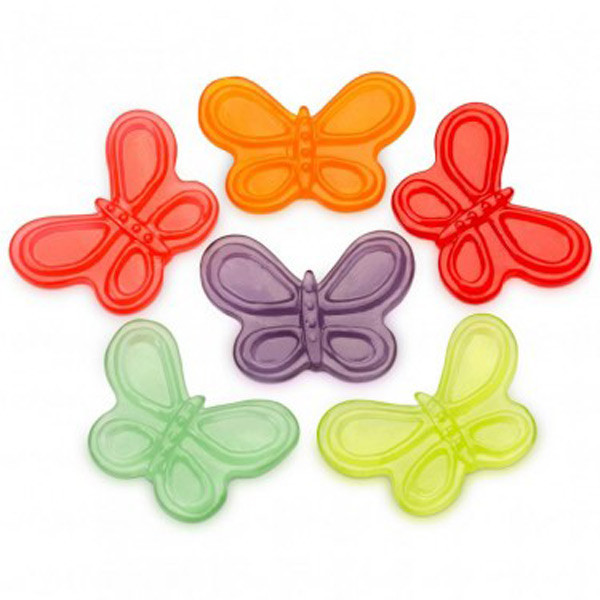 Gummi Large Butterflies, by Albanese Confectionery/Other,  and more Confectionery at The Professors Online Lolly Shop. (Image Number :7297)