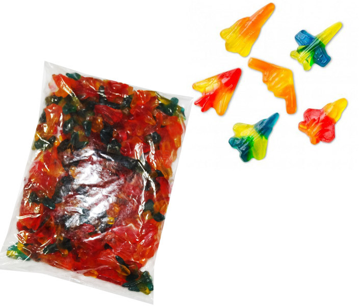 Gummi Jet Fighters, by Albanese Confectionery/Other,  and more Confectionery at The Professors Online Lolly Shop. (Image Number :7285)