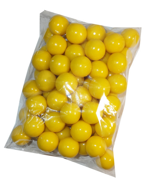 Gumballs - Yellow, by Oak Leaf Confections,  and more Confectionery at The Professors Online Lolly Shop. (Image Number :7150)