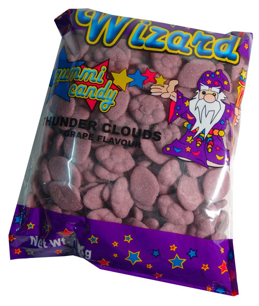 Wizard Thunder Clouds - Purple Grape, by Wizard,  and more Confectionery at The Professors Online Lolly Shop. (Image Number :7213)