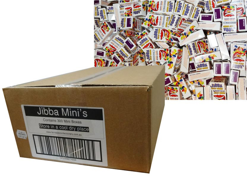 Jibba Mini Jelly Bean Pack, by Ferndale Confectionery,  and more Confectionery at The Professors Online Lolly Shop. (Image Number :7194)