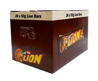 Lion Bars, by Nestle,  and more Confectionery at The Professors Online Lolly Shop. (Image Number :10170)