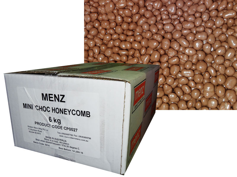 Mini Choc Honeycomb, by Robern Menz,  and more Confectionery at The Professors Online Lolly Shop. (Image Number :7235)