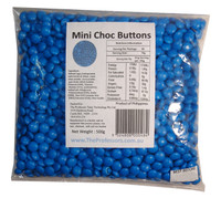 Mini Choc Buttons - Blue, by Brisbane Bulk Supplies,  and more Confectionery at The Professors Online Lolly Shop. (Image Number :7333)