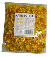 Sweet Treats Wrapped Hard Toffees - Yellow/Gold - Caramel Vanilla, by Brisbane Bulk Supplies,  and more Confectionery at The Professors Online Lolly Shop. (Image Number :7340)