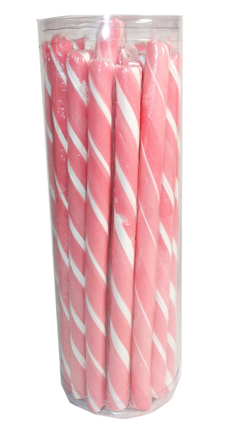 Candy Poles Jar - Pink, by Brisbane Bulk Supplies,  and more Confectionery at The Professors Online Lolly Shop. (Image Number :7329)