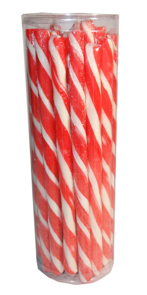 Candy Poles Jar - Red, by Brisbane Bulk Supplies,  and more Confectionery at The Professors Online Lolly Shop. (Image Number :7323)