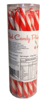 Candy Poles Jar - Red, by Brisbane Bulk Supplies,  and more Confectionery at The Professors Online Lolly Shop. (Image Number :7324)