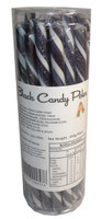 Candy Poles Jar - Black, by Brisbane Bulk Supplies,  and more Confectionery at The Professors Online Lolly Shop. (Image Number :7322)