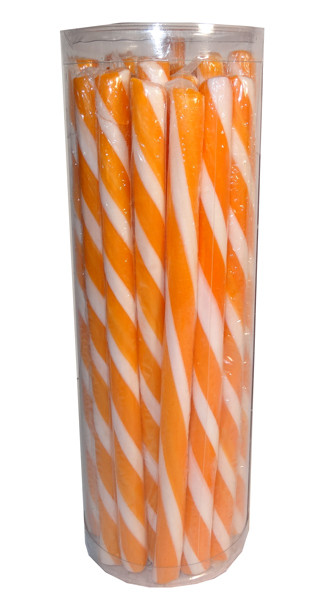 Candy Poles Jar - Orange, by Brisbane Bulk Supplies,  and more Confectionery at The Professors Online Lolly Shop. (Image Number :7317)