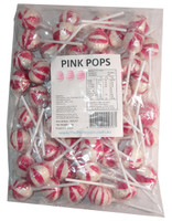 Ball Pops - Pink, by Brisbane Bulk Supplies,  and more Confectionery at The Professors Online Lolly Shop. (Image Number :7354)
