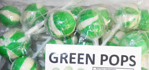 Ball Pops - Green, by Brisbane Bulk Supplies,  and more Confectionery at The Professors Online Lolly Shop. (Image Number :7346)