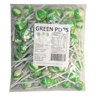 Ball Pops - Green, by Brisbane Bulk Supplies,  and more Confectionery at The Professors Online Lolly Shop. (Image Number :7347)
