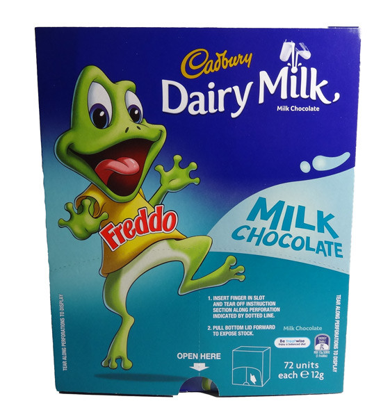 Cadbury Freddo Frog Dairy Milk, by Cadbury,  and more Confectionery at The Professors Online Lolly Shop. (Image Number :7362)