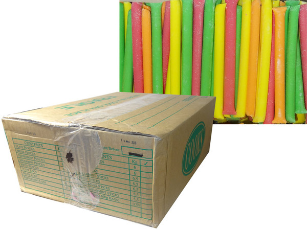 Fruit Pencils, by Cooks Confectionery,  and more Confectionery at The Professors Online Lolly Shop. (Image Number :7586)