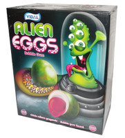 Vidal Alien Eggs Bubble Gum, by vidal,  and more Confectionery at The Professors Online Lolly Shop. (Image Number :7512)