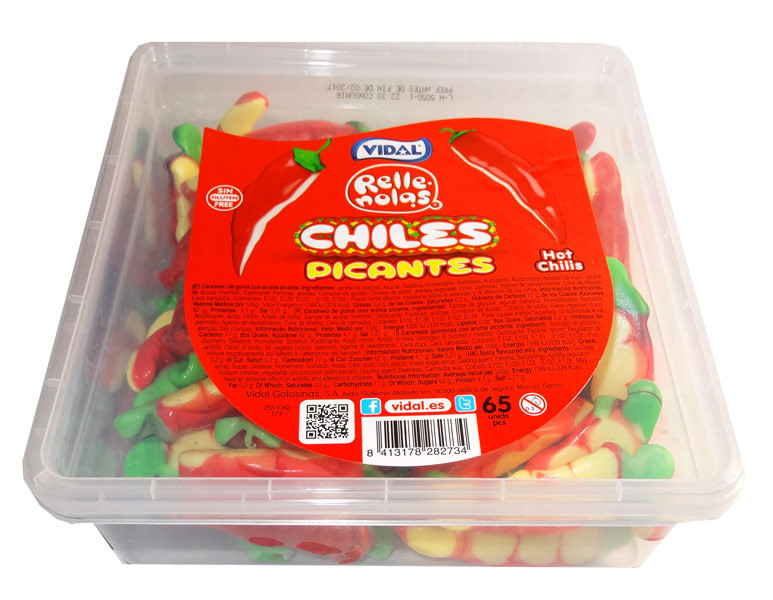 Vidal Chiles Picantes - Hot Chillies, by Candy Brokers/vidal,  and more Confectionery at The Professors Online Lolly Shop. (Image Number :7505)