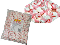 Gummy Filled Marshmallow Twists - Pink Strawberry, by Universal Candy,  and more Confectionery at The Professors Online Lolly Shop. (Image Number :7604)