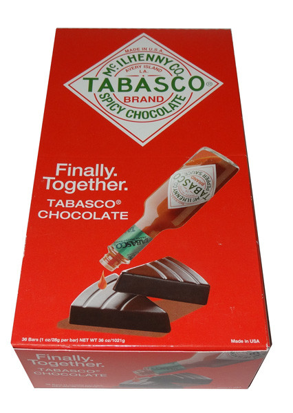 Tabasco Brand Spicy Chocolate, by McIlhenny Co/Other,  and more Confectionery at The Professors Online Lolly Shop. (Image Number :7705)