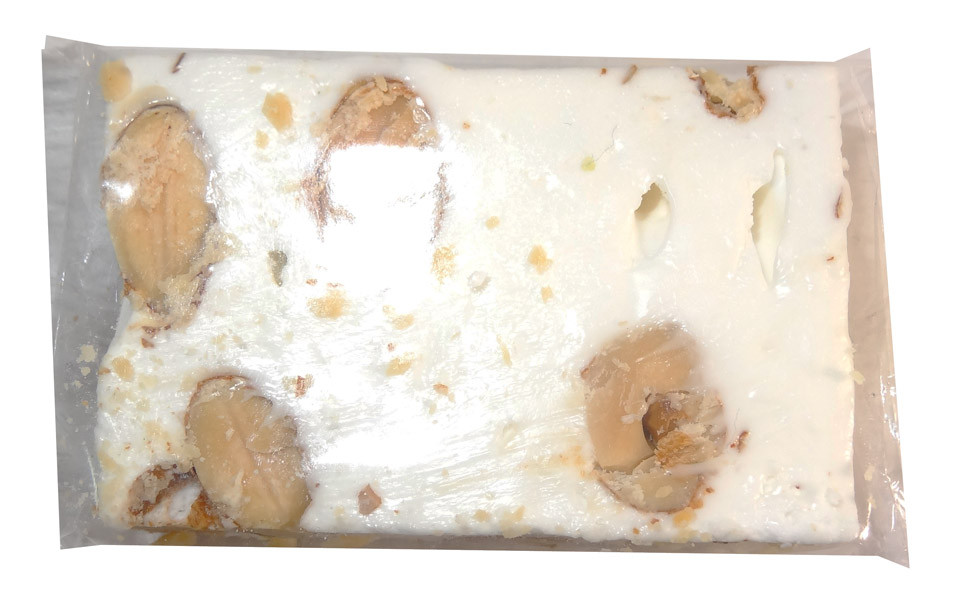 Almond Nougat - White, by ABW Foods,  and more Confectionery at The Professors Online Lolly Shop. (Image Number :7612)