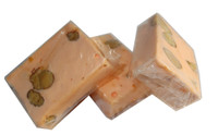Almond Nougat - Pastel Orange, by ABW Foods,  and more Confectionery at The Professors Online Lolly Shop. (Image Number :7615)