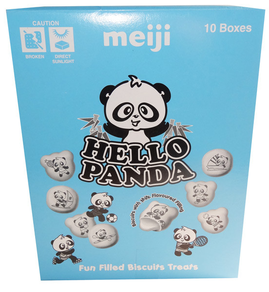 Meiji Hello Panda Milk Creams, by Meiji,  and more Confectionery at The Professors Online Lolly Shop. (Image Number :7663)