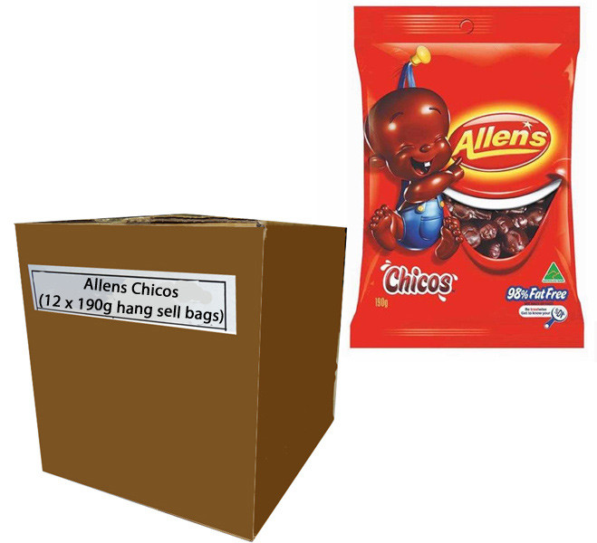 Allens Chicos, by Allens Confectionery,  and more Confectionery at The Professors Online Lolly Shop. (Image Number :7744)