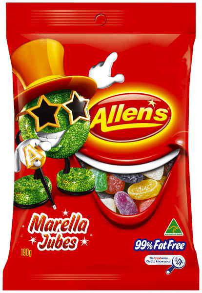 Allens Marella Jubes, by Allens Confectionery,  and more Confectionery at The Professors Online Lolly Shop. (Image Number :7739)