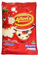 Allens Strawberries and Cream (12 x 190g hang sell bags)