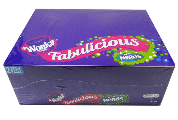 Wonka Fabulicious with Nerds, by Wonka,  and more Confectionery at The Professors Online Lolly Shop. (Image Number :7669)