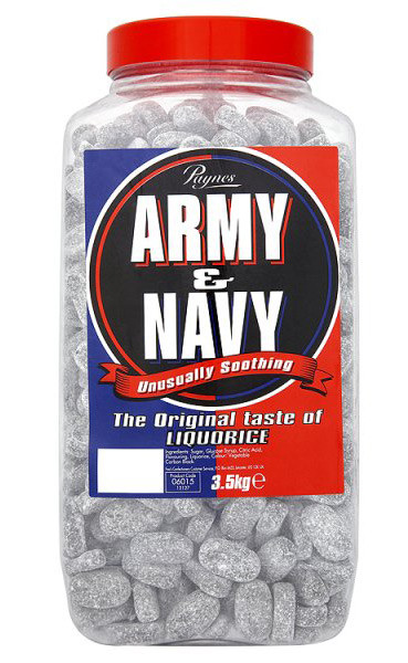 Paynes Army & Navy - Liquorice Sweets, by Paynes,  and more Confectionery at The Professors Online Lolly Shop. (Image Number :7727)