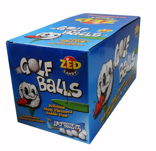 Golf Balls - Mint Bubble Gum, by Zed,  and more Confectionery at The Professors Online Lolly Shop. (Image Number :7724)