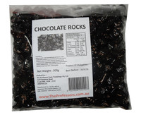 Chocolate Rocks - Black, by Brisbane Bulk Supplies,  and more Confectionery at The Professors Online Lolly Shop. (Image Number :7838)