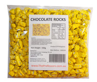 Chocolate Rocks - Yellow, by Brisbane Bulk Supplies,  and more Confectionery at The Professors Online Lolly Shop. (Image Number :7825)