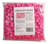 Chocolate Rocks - Pink, by Brisbane Bulk Supplies,  and more Confectionery at The Professors Online Lolly Shop. (Image Number :7823)