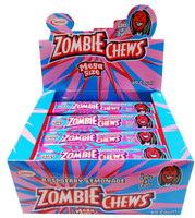 Zombie Chews - Raspberry/Lemonade, by Sweetmans,  and more Confectionery at The Professors Online Lolly Shop. (Image Number :8332)