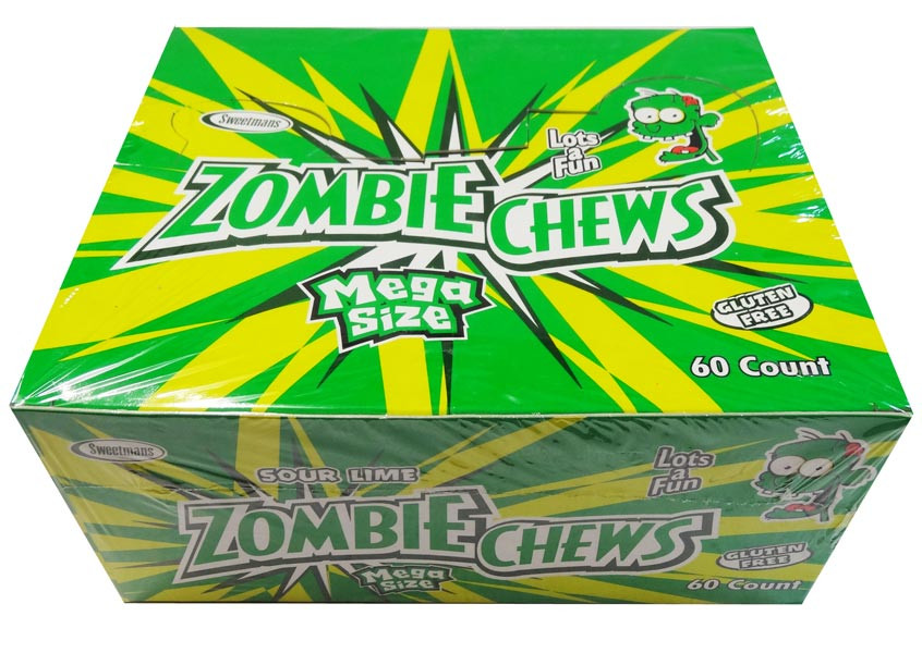 Zombie Chews - Sour Lime, by Sweetmans,  and more Confectionery at The Professors Online Lolly Shop. (Image Number :8335)