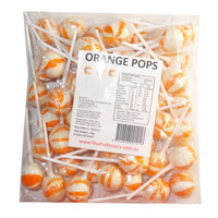 Ball Pops - Orange, by Brisbane Bulk Supplies,  and more Confectionery at The Professors Online Lolly Shop. (Image Number :7815)