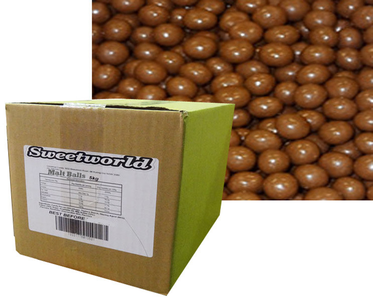 Sweetworld - Choc Malt Balls, by Hugos Confectionery,  and more Confectionery at The Professors Online Lolly Shop. (Image Number :8594)