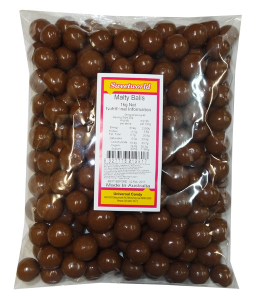 Choc Malty Balls, by Hugos Confectionery,  and more Confectionery at The Professors Online Lolly Shop. (Image Number :8364)