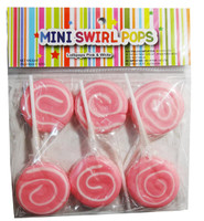 Mini Swirl Pops - Pink and White and more Confectionery at The Professors Online Lolly Shop. (Image Number :8021)