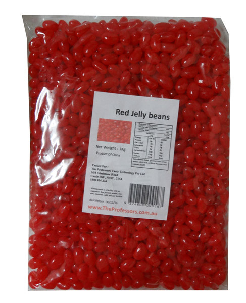 Sweet Treats Mini Jelly Beans - Red with a Strawberry Flavour, by Brisbane Bulk Supplies,  and more Confectionery at The Professors Online Lolly Shop. (Image Number :7976)