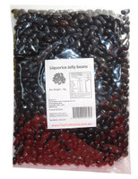 Sweet Treats Mini Jelly Beans - Black with a Licorice Flavour, by Brisbane Bulk Supplies,  and more Confectionery at The Professors Online Lolly Shop. (Image Number :7972)