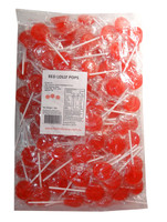 Sweet Treats Flat Pops - Single Colour - Red, by Brisbane Bulk Supplies,  and more Confectionery at The Professors Online Lolly Shop. (Image Number :7965)