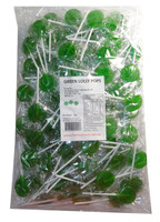 Sweet Treats Flat Pops - Single Colour - Green, by Brisbane Bulk Supplies,  and more Confectionery at The Professors Online Lolly Shop. (Image Number :7964)